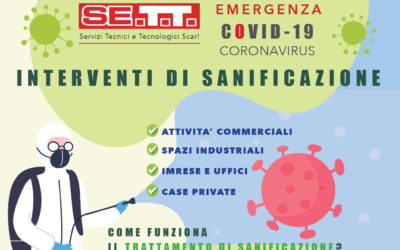 Emergenza Covid-19 Coronavirus. Interventi di sanificazione.